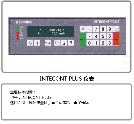 INTECONT PLUS 仪表